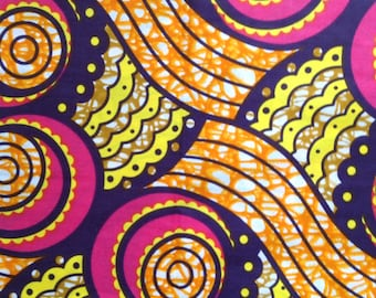 Tribal Fabric-by-the-yard African wax print batik style fabric 100% cotton