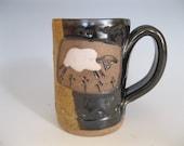 Sheep Mug Stoneware Slab