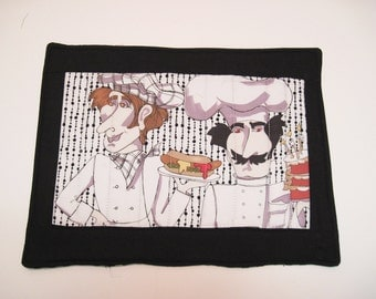 Mug rug  mini placemat Chefs snack mat Quiltsy  handmade