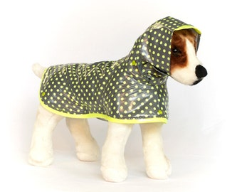 Citrus Pop: Dog Raincoat, Waterproof Dog Coat, Dog Raincoat with Hood, Raincoats for Dogs