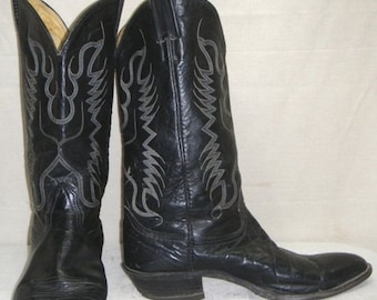 ON SALE Vintage Mens Nocona Leather Cowboy Western Boots 10D Womens 12M