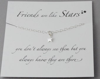Friends Necklace, Star necklace, Reach for the stars, Best friends Necklace
