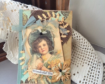 Friendship Card - Victorian Lady Card - Vintage-style Lady Card