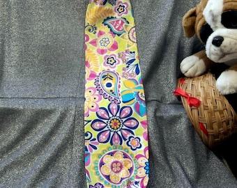 Plastic Bag Holder Sock, Bright Paisley Print