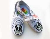 Marble Skully Hand Painted Kicks size 8.5