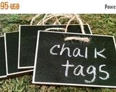 On SALE- Rectangle Wood Chalkboard Labels - set of 4 - Basket Labels, Chalkboard Tags, Wedding Chalkboards, Rustic Wedding