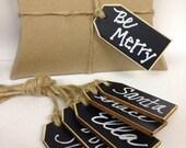 On SALE- 6 Chalkboard Wine Tags, Chalkboard Place Settings, Wedding Chalkboards, Basket Tags, Chalkboard Gift Tags
