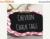 On SALE- 6 Chevron Chalkboard Tags with Chalkboard Labels - set of 6 - Basket Labels, Gift Tags, Wedding Chalkboards  26 COLORS
