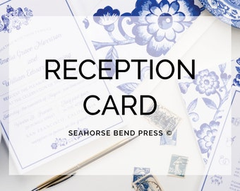 Reception Card/Festivities or Agenda Card