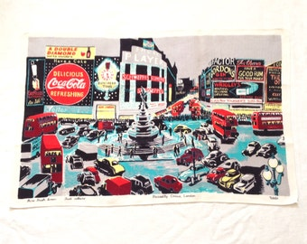 Piccadilly Circus Irish Linen Tea Towel by Ulster