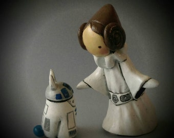 Princess Leia Poppet and R2D2 Bibbit  Very Limited Edition 16/50