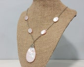 Pink Shell Teardrop Necklace
