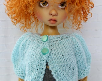 Hand knitted Summer sweater for MSD or SD Kaye Wiggs dolls