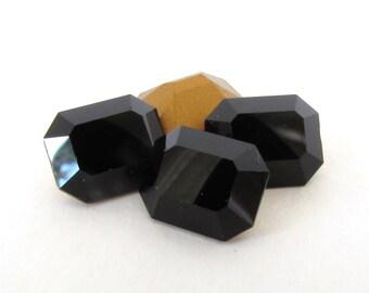 Swarovski Crystal Vintage Rhinestone Jet Black Octagon Jewel 10x8mm swa0757 (4)
