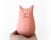 Cashmere Cat Doll - Stuffed Animal Cat - Tiny Cat - Cat Lover Gift - Soft Kitty Cat - Soft Toy - Plush Toy Cat - Stuffed Toy - Pink Cat Doll