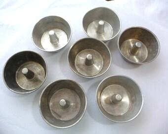 Vintage Bundt Pans, Aluminum Bundt Pants, MOM, Jello Molds, Miniature Bundt Cakes, Vintage Housewares, 7 Bundt Pans, Small Bundt Pants, Bake