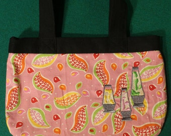 Hippy Lava Lamp Pink embroidered purse