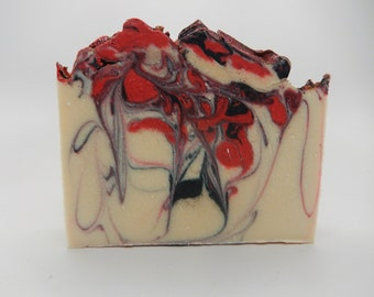 Cold Process Soap, Dragon's Blood, Handmade Cold Process Soap, Goats Milk Soap, CP Soap,  Artisan Soap, Homemade Soap, Gift Soap