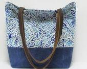 Tote Bag / Shoulder Bag / Waxed Canvas Base / Travel Bag
