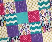 Aztec Baby Quilt-Patchwork Baby Blanket-Handmade Baby Quilt-Arrow Baby Quilt-Modern Baby Quilt-Minky Baby Blanket-Baby Quilt Etsy