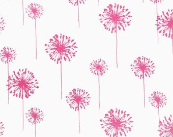 Premier Prints- Dandelion White/Candy Pink-By the Yard-Home Decorator Fabric-Medium Weight Decorator Fabric