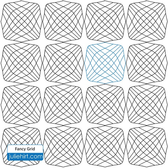 FANCY GRID - Longarm Quilting Digital Pattern for Edge to Edge and Pantograph Handiquilter ...