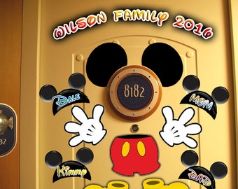 SALE! Mickey Ears and Body Personalized Disney Cruise Door Magnets - Use as Disney Cruise Door Decorations and Clip Art
