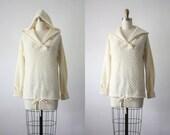 arpeja hooded sweater / organic 1970s sweater