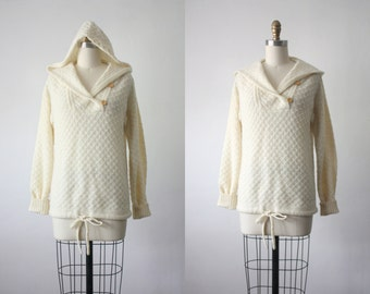arpeja hooded sweater / organic 1970s sweater