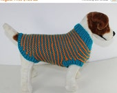 HALF PRICE SALE Chunky Stripe Garter Stitch Dog Coat knitting pattern by madmonkeyknits - Instant Digital File pdf download knitting pattern