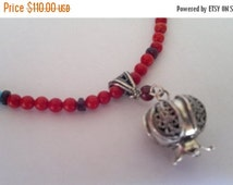 On Sale Sterling Silver Necklace Pendant Pomegranate garnets corals  Israeli necklace jewelry
