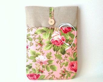 MacBook Air 13 3 inch Case, MacBook Air 13 Case, MacBook Air 13 Cover, MacBook Air 13 Sleeve, Floral MacBook Sleeve, Rose MacBook Sleeve Bag