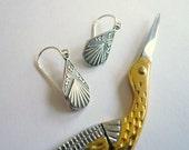 1920s earrings. Silver art deco drop earrings. Small silver dangle earrings. Little silver drops. Sterling silver earwires. Art deco dangles