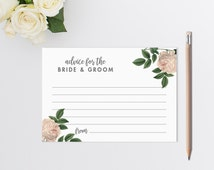 PRINTABLE Advice Cards // Wedding Advice Cards // Wedding Guest Book // Guest Book Alternative // Advice for the newlyweds /INSTANT DOWNLOAD