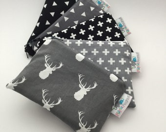 Reusable Snack Bag, Reusable Zipper Bag, Reusable Sandwich Bag, Zipper Pouch, Reusable, Crosses Snack Bag, Lunch Bag, Reusable Bag, Buck