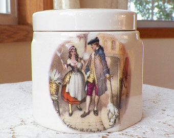 "Vintage English Sandland Ware ""Cries of London"" Porcelain Marmalade Jar, Lavender and Sweet Oranges"