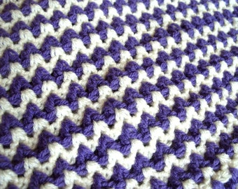 Crochet Baby Blanket Unisex Baby Shower Baby Gift Purple Blanket UK