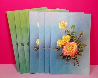 Vintage Notecards - Greeting Cards - Notelets - Waldorf Informal Notes - Boxed Notelets