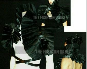Harley Quinn Costume Wedding Gothic High Black Widow Dramatic Bolero Shrug Moulin rouge Cosplay