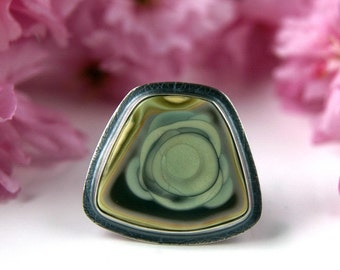 Leaves of Spring - Imperial Jasper Sterling Silver Ring