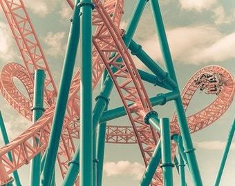 Hersheypark Fahrenheit Roller Coaster Print