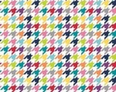 CLEARANCE SALE Riley Blake Houndstooth in Bright | Blue Navy Hot Pink Lime Yellow Orange Red | By The Yard