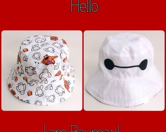 Reversible Baymax Sun Hat Size 3-5 years old Ready to ship