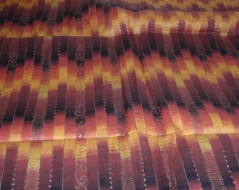 """Gold and Brown Cranston Print Works Quilting Fabric 100% Cotton 44"""" Wide Sold by the Half Yard"""