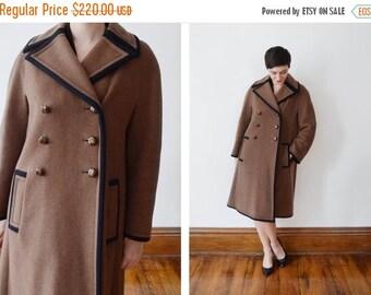 SUMMER SALE Saks Fifth Avenue 1960s Brown Wool Coat - M
