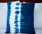 18X18 Blue Shibori Pillow Cover