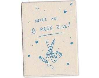 Make an 8 page zine! mini zine (2016 edition)