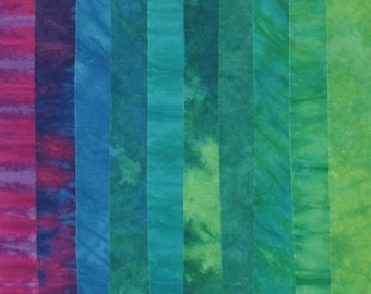 Hand Dyed Fabric - HAPPY HOUR Stash Pack - 10 Fat Eights