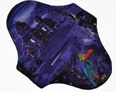 Light Core- Haunted House Reusable Cloth Pantyliner Pad- WindPro Fleece- 8.5 Inches