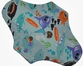 Moderate Core- Shark Bite Reusable Cloth Maxi Pad- 10 Inches (25.5 cm)